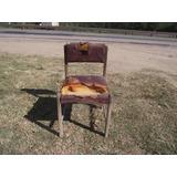 Antiga Cadeira Anos 50 Em Madeira Jacaranda (cod.139)