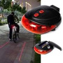 Linterna Trasera Bicicleta Luz Led Laser Ciclovia Virtual