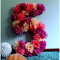 Numeros Con Flores De Papel Cumpleaños 15 Eventos