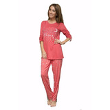 Pijama De Invierno Talle Especial Wassarette 12806 Dor