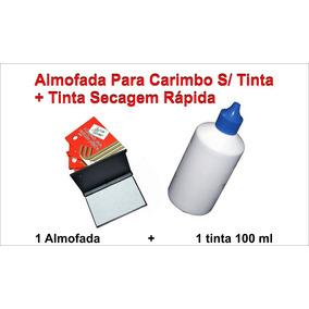 Tinta Carimbo Datado Plástico, Metal E Papel + Almofada
