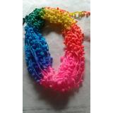 Cinta Galon De Pompones Multicolor 18 Metros