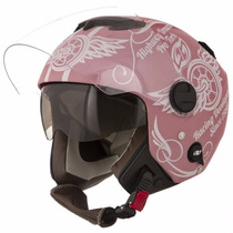 Capacete Pro Tork New Atomic Highway Dreams Rosa Fosco 56