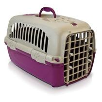 Caixa De Transporte N2 Rosa Para Cachorro Pequeno Até 8kg