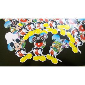12 Invitacion Con Cadenita Mickey Mouse