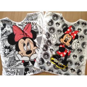 5 Blusas Feminina Minie Mickey Variadas Flame Atacado