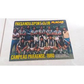 Mini Poster Paysandu - Campeão Paraense 1980 C/reportagem