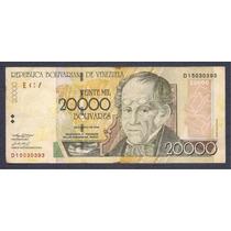 Billete Venezuela 20 Mil Bolivares