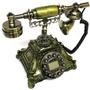 Telefone Retro Decorativo Vintage Metalico Teclado Digital