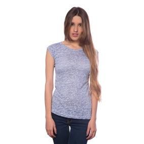 Franela T Básica Azul Gastada Saints Clothes