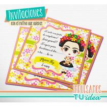 Frida - Invitación Para Imprimir