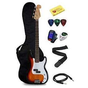 Guitarra De La Media Luna Bajo Eléctrico Starter Kit - Sunbu
