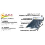 Calentador Solar Para Agua De Uso Domestico Sol Grande 155lt