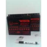 Kit 2 Bateria 12v 18ah No-break Power Sinus Ii 2400va Da Sms