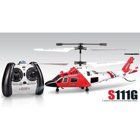 Mini Helicóptero Syma S111g Controle Remoto - Com Iluminação