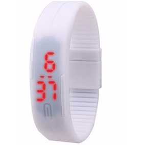 Relógio Digital Led Sport Silicone Branco - Sem Marca!