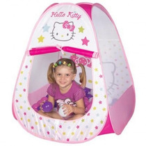 Casinha Barraca Da Hello Kitty Infantil Bebe 60 Bolinhas Top