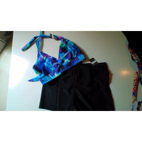 El Baúl De Juana: Bikini Con Short Hasta Talle 125