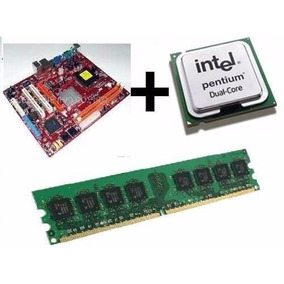 Kit Placa Mãe + Process Intel Dual Core + 2gb Ddr2 + Cooler