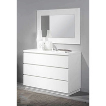 comoda tocador con espejo minimalista para recamara