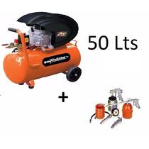Compresor De Aire Gladiator 50 Litros 2hp + Kitaire La Cueva