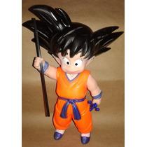 Figura Goku !!! Plastico Dragon Ball Z Goku 24 Cm Baculo