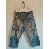 Calca Feminina Jeans Bolsos Capri Cód. V76