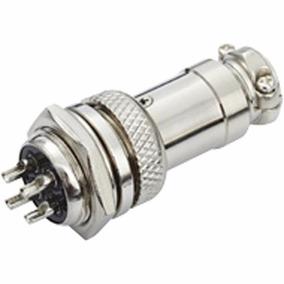 Conector Microfone Fêmea/macho De Linha 4 Pinos Genérico