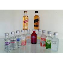 Mini Vodka Absolut 50ml - Kit 10 Sabores - Ganhe Red Black