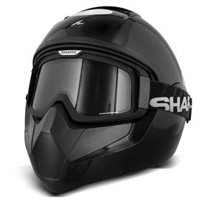 Capacete Shark Helmets Vancore Blank Blk Preto Brilho Moto