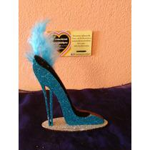 Souvenirs Zapato Brillante Con Pluma 50 Años 15 Años Dama