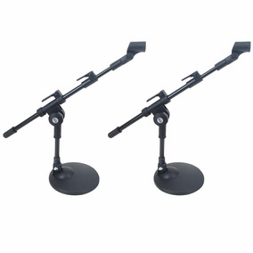 Kit 2 Pedestal Suporte De Mesa P/ Microfone + Cachimbos