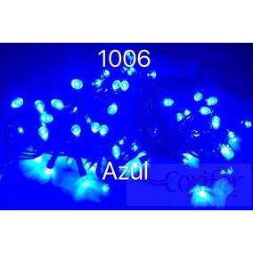 Pisca Pisca Azul 100 Lâmpadas Led 8 Funções Com Fio Verde