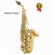Sax Soprano Curvo Lade + Case Luxo - Rivan