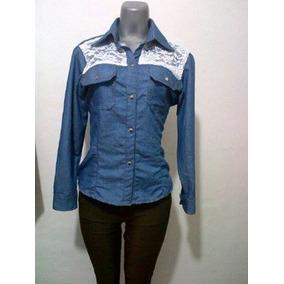 Camisa De Dma Ultima Moda Camisas Jeans Camisas Dama