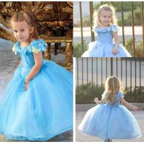 Hermoso Vestido De Niña Disfraz De Cenicienta Alta Costura