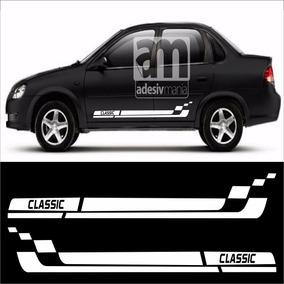 Adesivo Kit Faixas Lateral Para Corsa Classic Cla-21