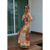 Vestido Longo Em Malha Fria Ideal Para O Verão