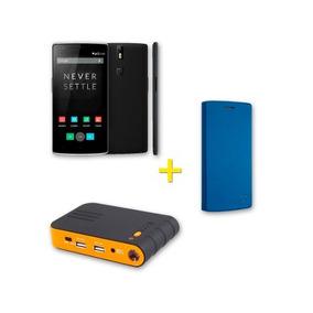 Celular Oneplus One +flip Cover Azul +batería Portátil Jump