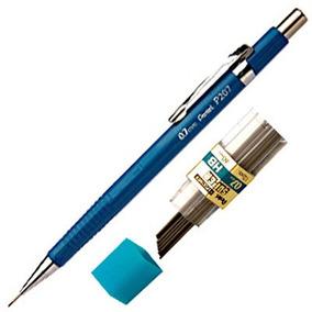 Lapiseira Pentel Sharp - 0.7 - Azul + Refil C/12 Grafites