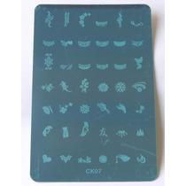 Placa Decalque Para Unha Com Carimbo 42 Desenhos - Ck07