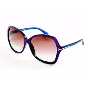 Óculos De Sol Tom Ford Carola 328 83f Azul/frutacor