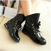 Zapatos Botas Negras Dama Rockeras #37