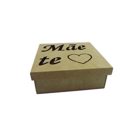 Caixa Convite Dia Das Mães - Mãe Te Amo Mdf Kit C/12 Unid