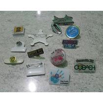Pin Plastico Con Resina Fistol Personalizado, Pin-pls 50 Pza