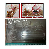 Molde Para Chocolate Navidad Papá Noel Trineo Renos 3d Base