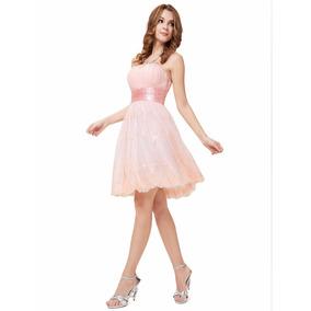 Vestido Rosa Festa Renda Tule 15 Anos Debutante Noiva Civil