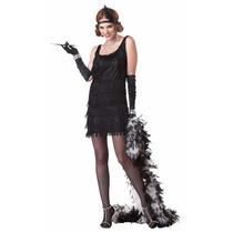 Vestido Disfraz Mujer Adulta Charleston Años Treinta Talla M