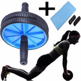 Rueda Abdominales Doble Ab Maquina Ejercitador + Kit Fitness