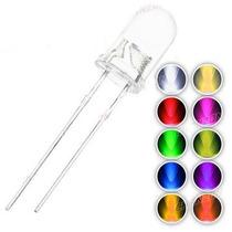 100 Leds 5mm Ultrabrillantes Colores A Elegir